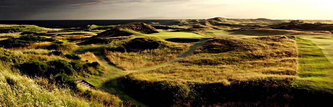 The Postage Stamp 8th hole at Royal Troon Golf Club