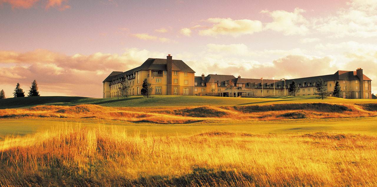 Image taken from the Torrance Course over to the Hotel at Fairmont St Andrews Resort
