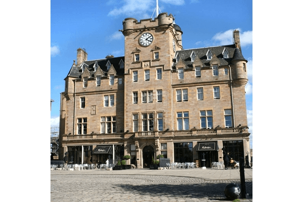 Image of the exterior of the Malmaison Edinburgh which is in Leith
