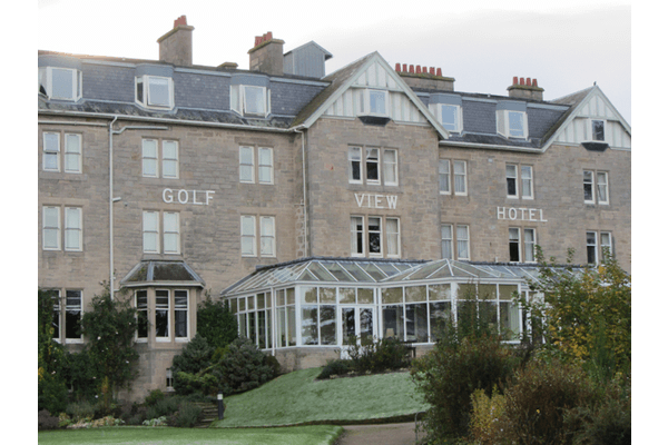 View of the exterior of the Golf View Hotel Nairn
