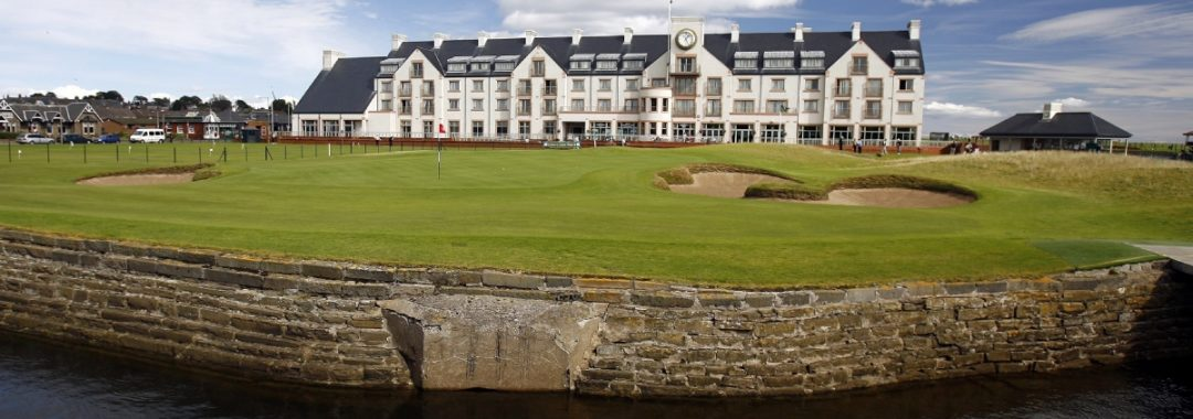 Image of the Carnoustie Golf Links and Hotel which are featured in our Tayside Golf Tour
