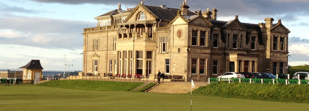 Image of the R & A Building at St Andrews the home of golf in Scotland