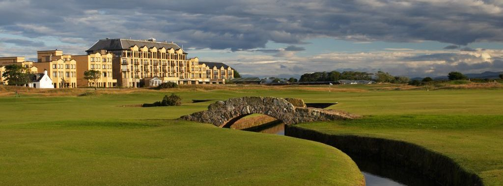 Image of the Old Course Hotel St Andrews which is included in our Scotland Golf Trips