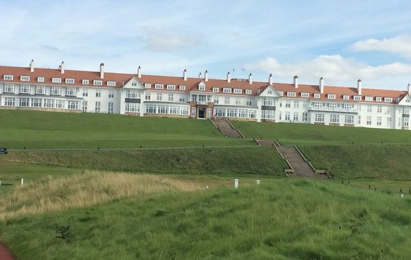 Image of the exterior of Turnberry Hotel featured in our Ayrshire Golf Tours