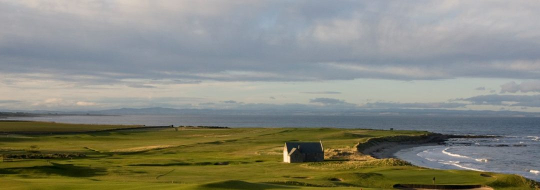 Image of Balcomie Links at Crail which we can feature in a Scotland Golf Trip