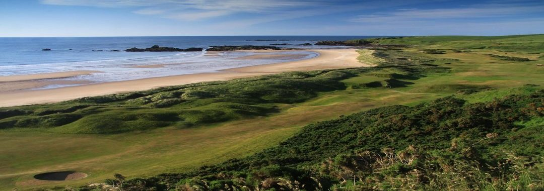 A lovely image of the golf course at Cruden Bay